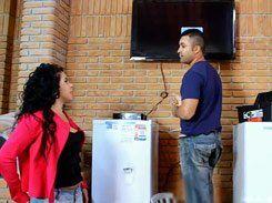 Mulata Carioca na putaria com homem da TV a cabo