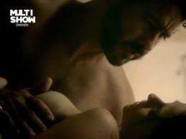 Priscila Sol nua transando em porno nacional